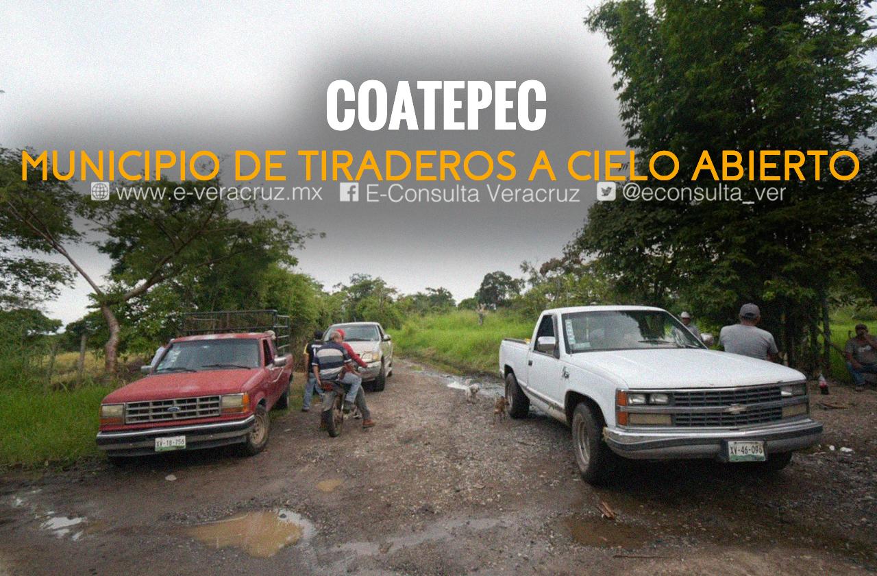 Campamento de campesinos contra tiradero a cielo abierto en Coatepec