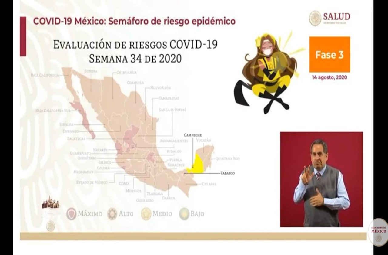 Campeche, primer estado en semáforo amarillo por covid