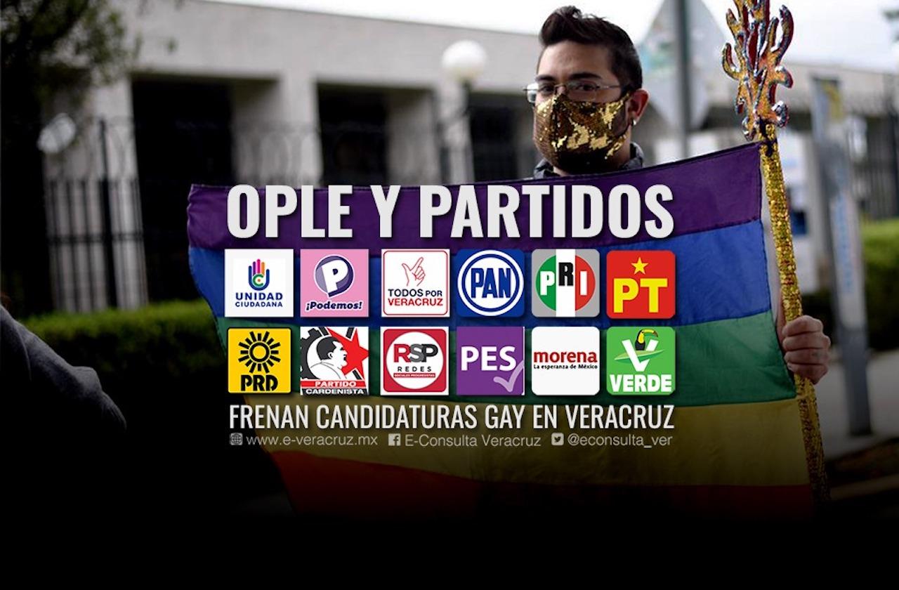 Candidaturas a comunidad gay de Veracruz, sin cuotas y en el