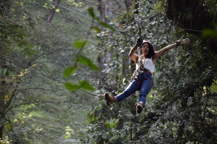 Canopy: el deporte de aventura del bosque de Niebla en Xalapa