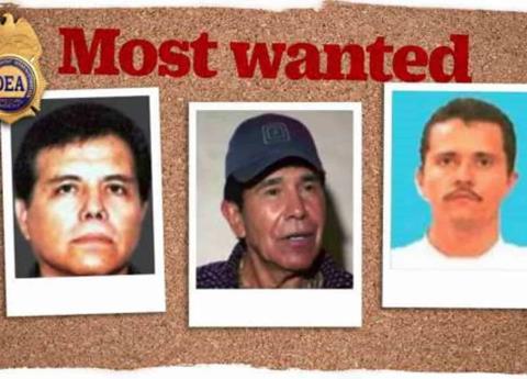 EU da 50 mdd por siete narcos mexicanos