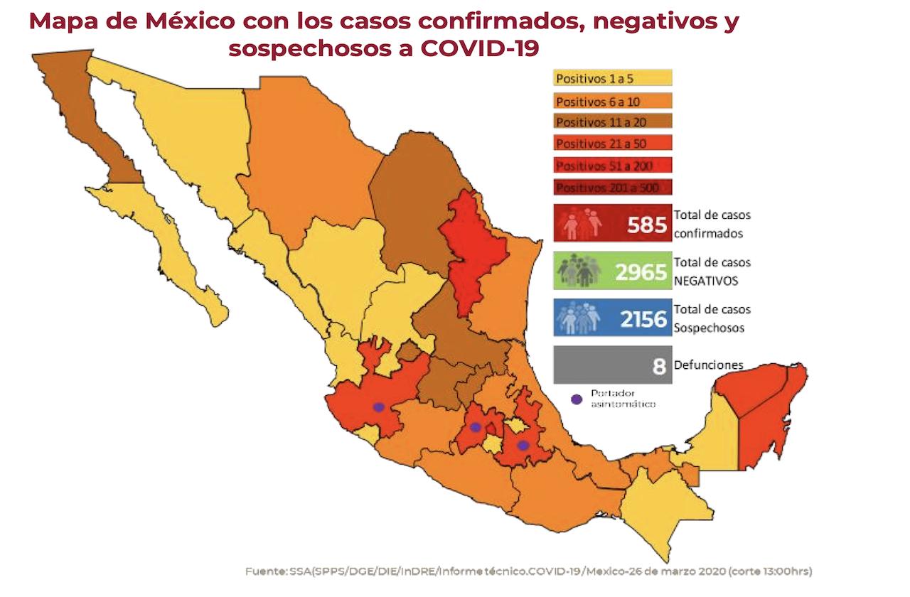 Federación confirma 8 defunciones por coronavirus en México
