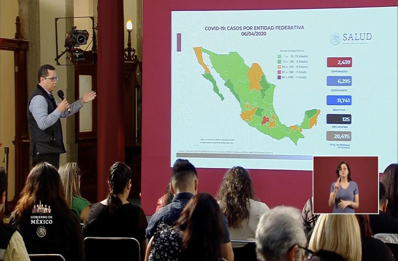 Se disparan decesos por coronavirus en México; suman 125