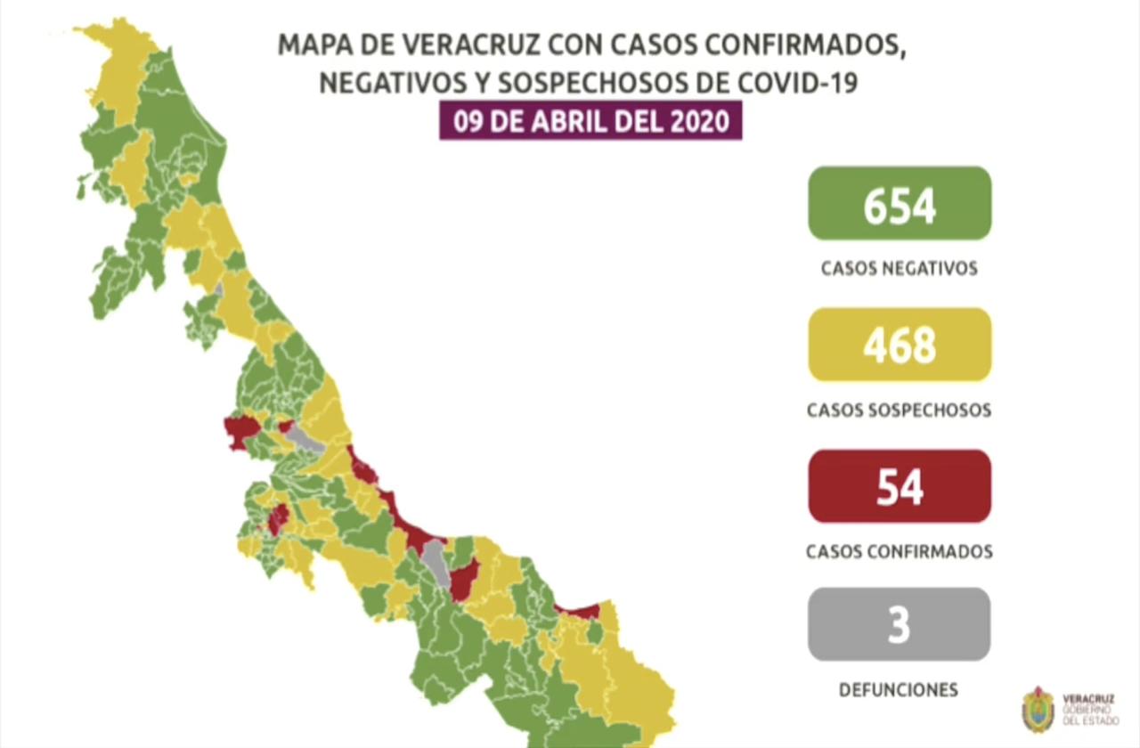 Suman 54 casos positivos de covid-19; más de la mitad contagios comunitarios