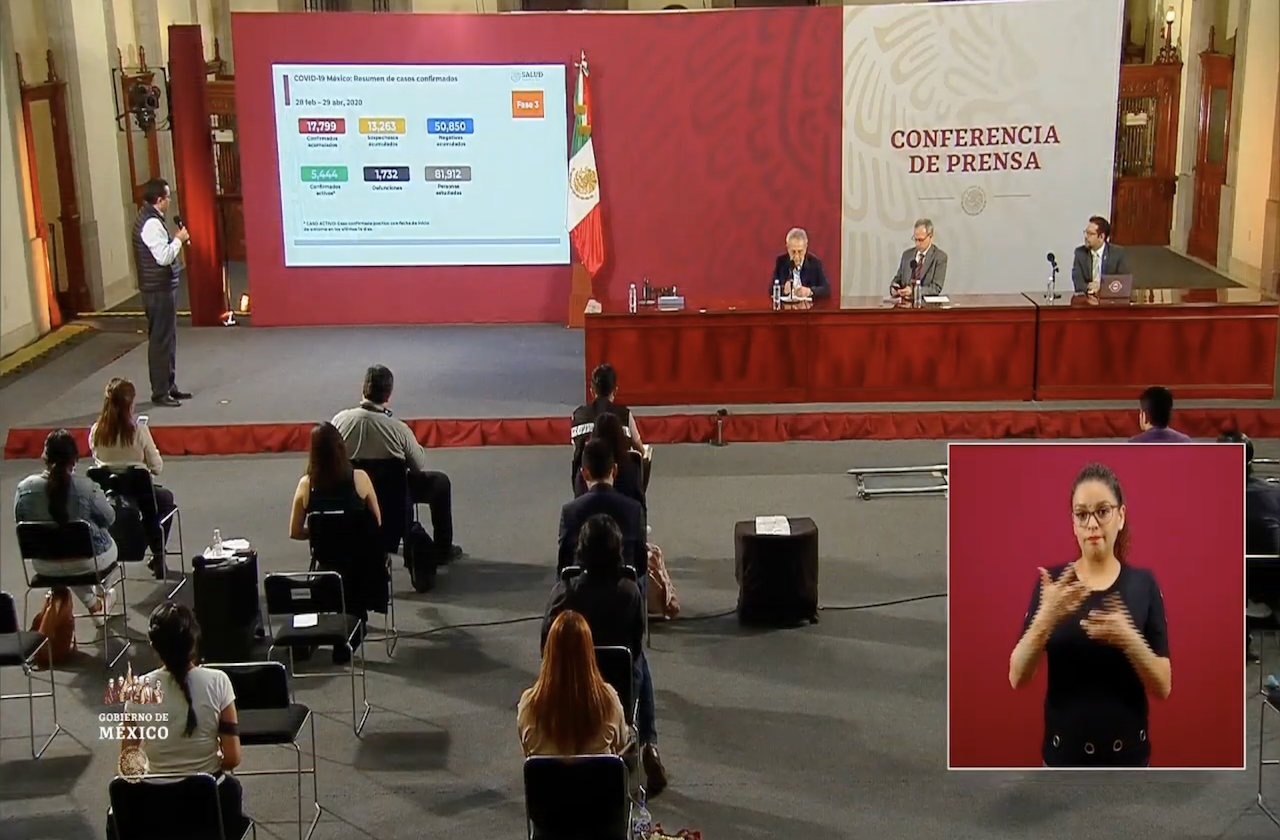 Rebasa México las mil 700 defunciones por covid