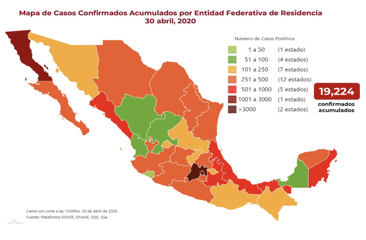 Se eleva número de muertes por covid en México; ya son mil 859