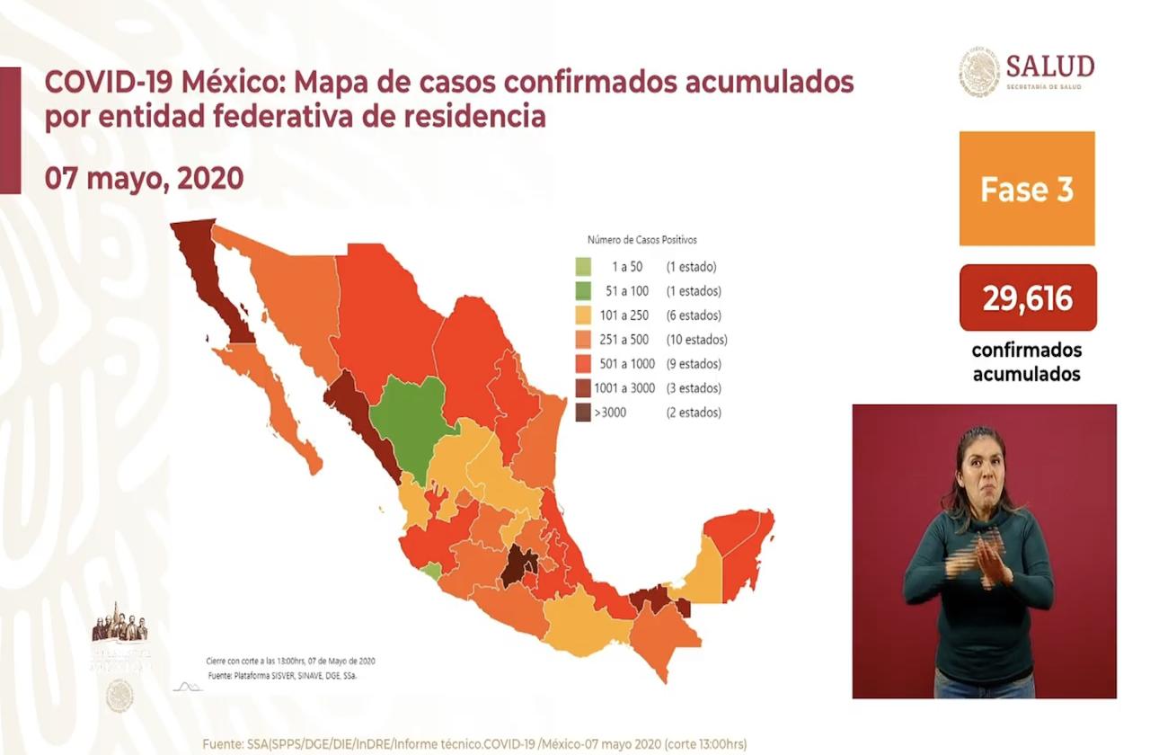México cerca de las 3 mil muertes por covid