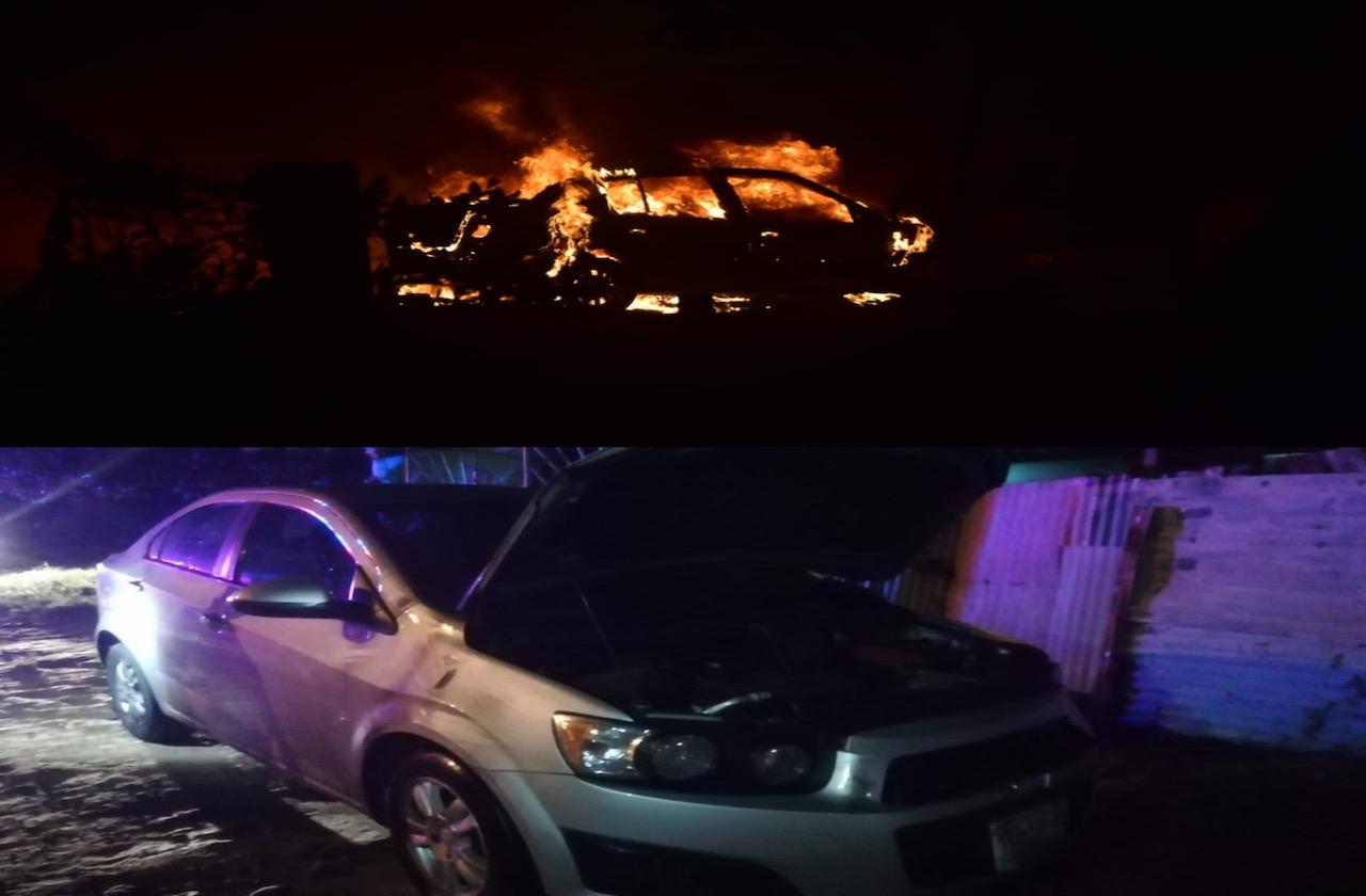 En dos atentados diferentes: incendian vehículo y e intentan quemar otro en Coatzacoalcos