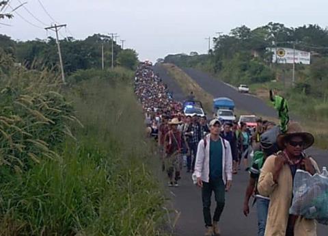 Llega a Veracruz la segunda caravana con más de 2 mil migrantes