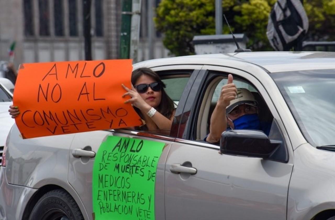 Realizan segunda caravana Anti-AMLO en Xalapa