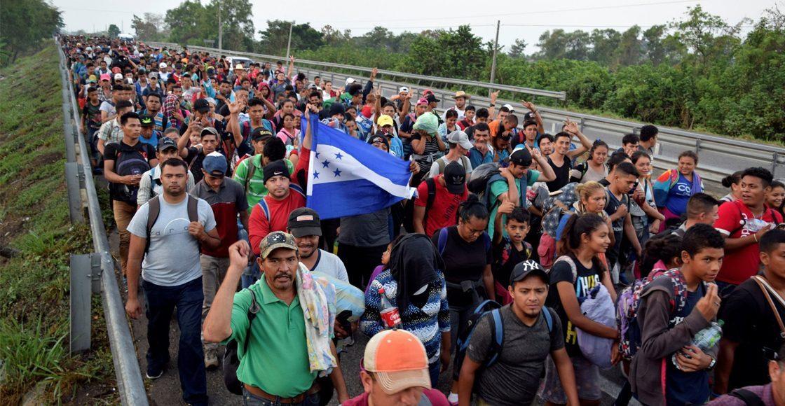 Resguardan frontera de Chiapas ante caravana migrante