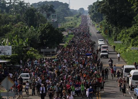 Caravana de migrantes llega a Tapachula