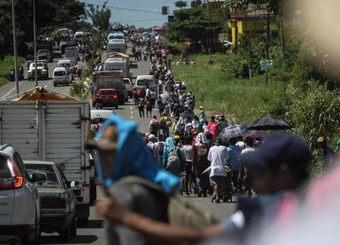Fallece migrante al caer de camión que viajaba de Tapachula a Huixtla
