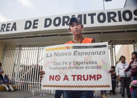 Migrantes desafían a Donald Trump, caravana avanza al norte de México