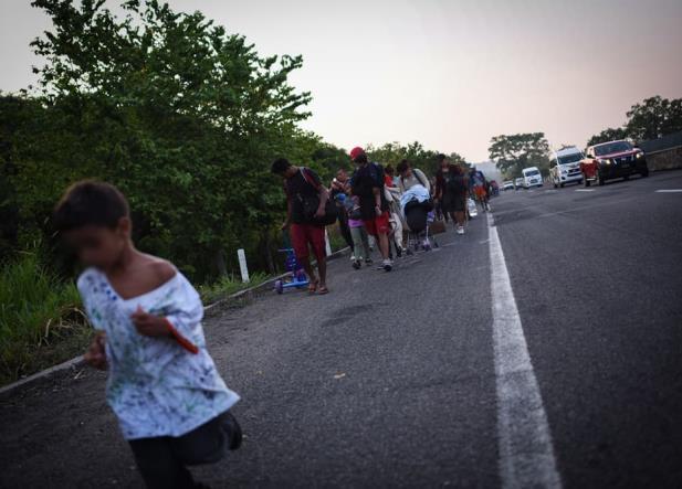 CNDH: en éxodo migrante viajan cerca de 1,676 menores de edad