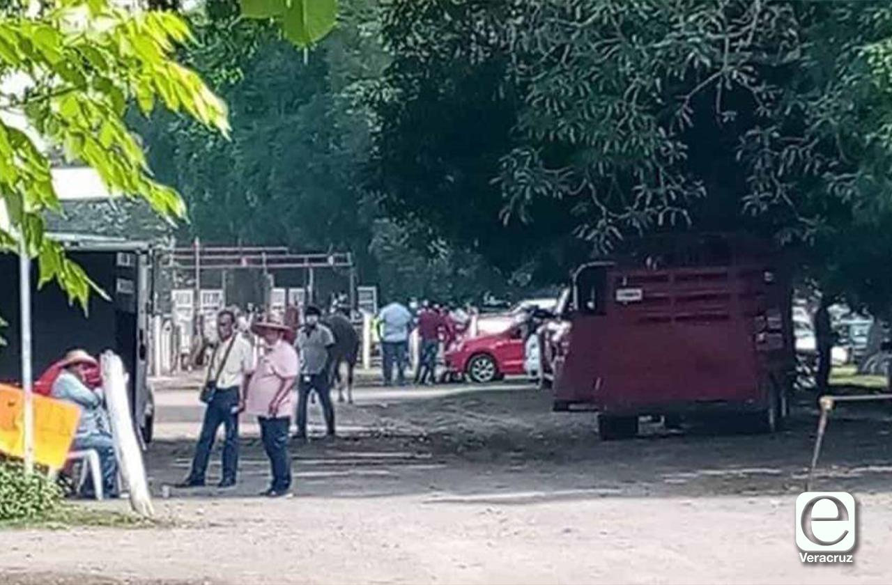 Esposo de alcaldesa de Jamapa realiza carrera de caballos