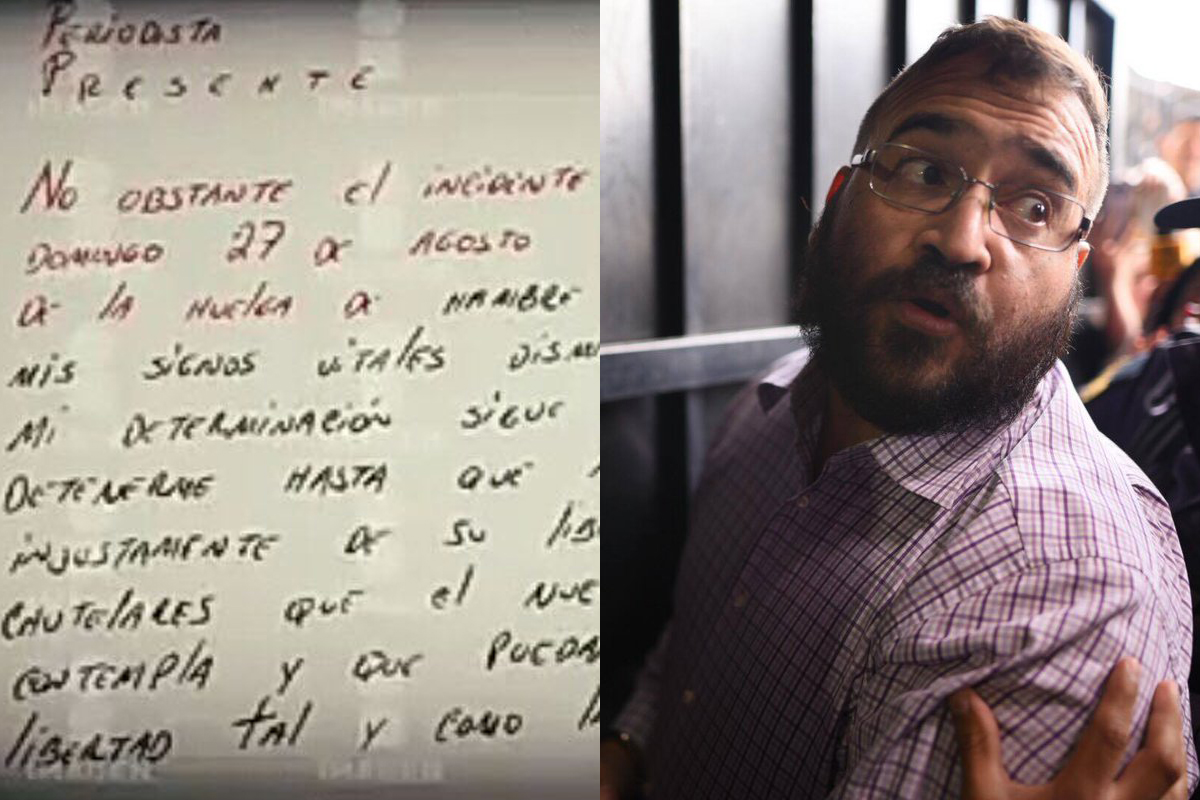 Duarte escribe nueva carta, dice que no dejará su huelga de hambre