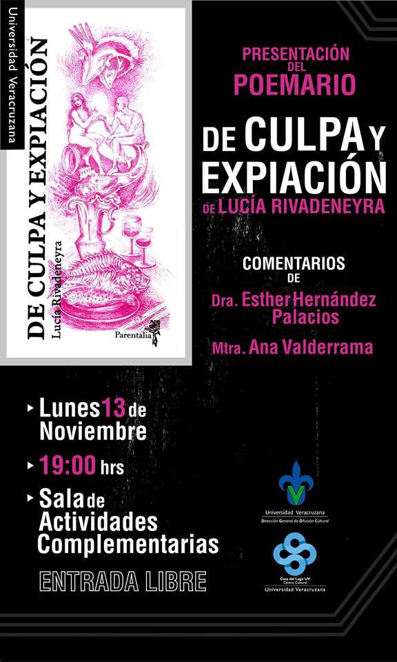 Presentación en Xalapa del poemario 'De culpa y expiación', de Lucía Rivadeneyra