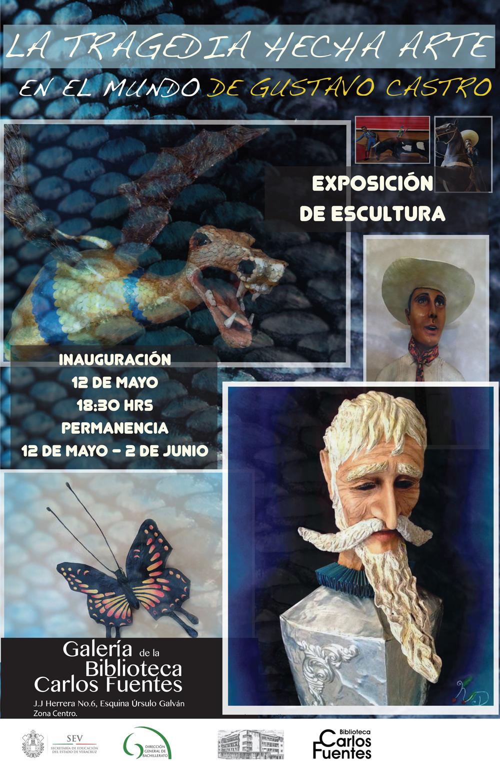 """Presentan """"La Tragedia Hecha Arte en el Mundo de Gustavo Castro"""" en la Biblioteca"""