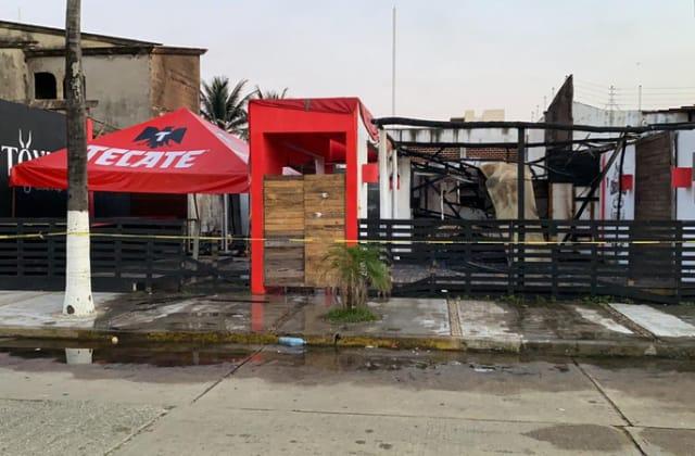 Esto se sabe sobre bar que se incendió en Coatzacoalcos