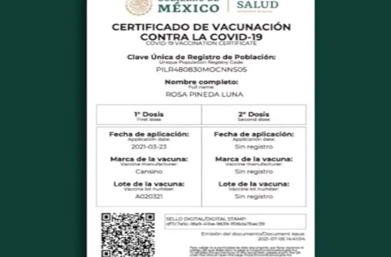 Así puedes obtener tu certificado de vacunación ¡Para esto te servirá!