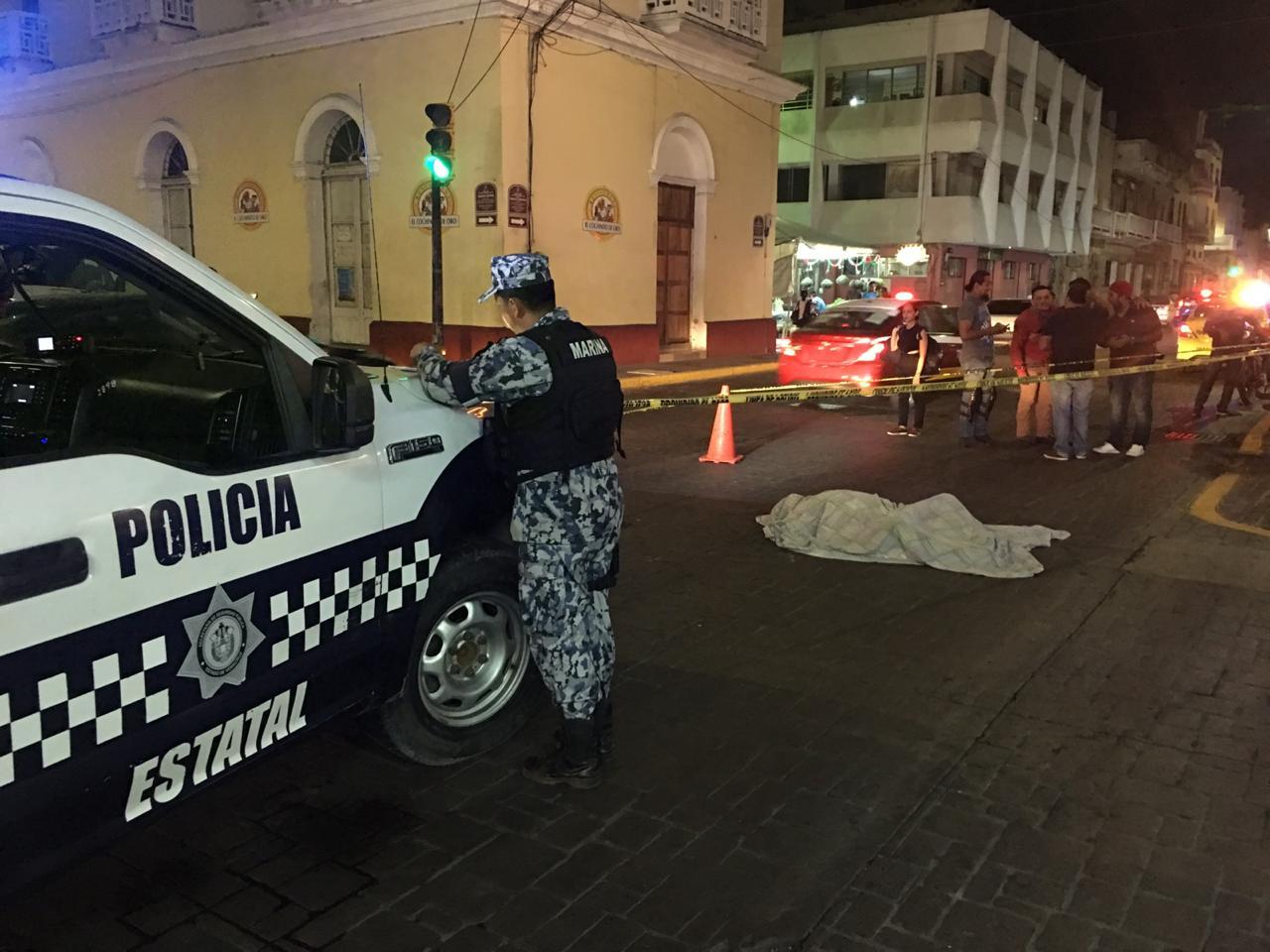 Muere hombre tras paro cardiaco en el centro de Veracruz