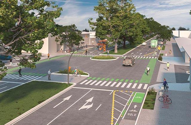 Así se verá Ruiz Cortines con ciclovía en Xalapa
