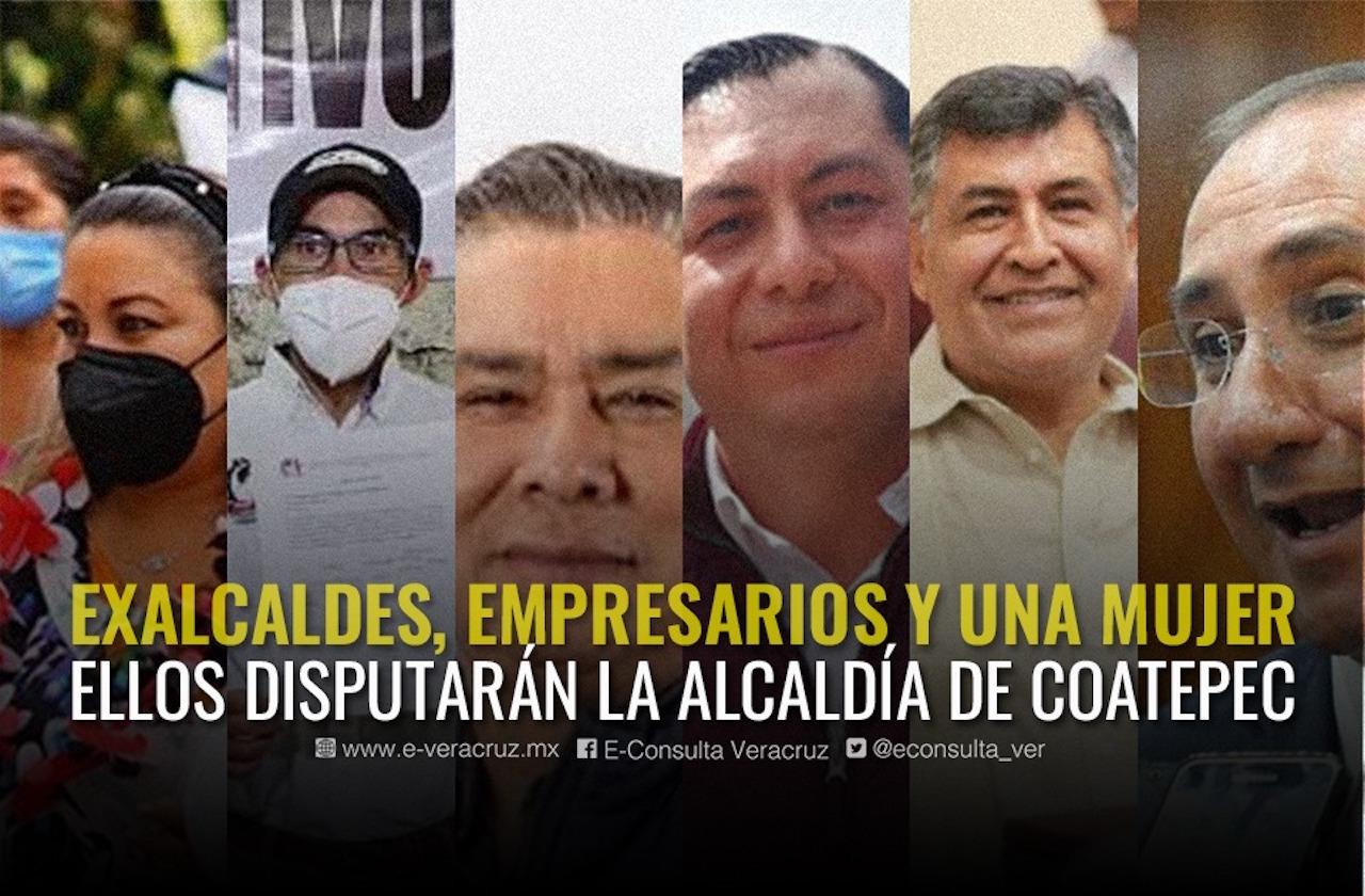 Cinco hombres y una mujer en disputa por la alcaldía de Coatepec