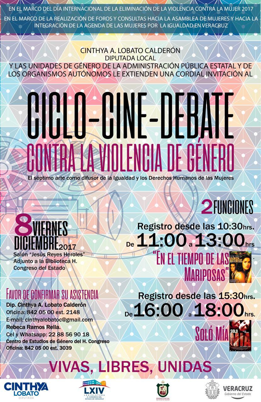 Invita diputada Cinthya Lobato a cine-debate en el Congreso del Estado