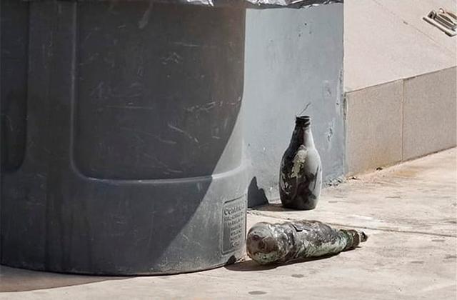 Lanzan bomba molotov contra Oxxo para asaltarlo, en Coatza