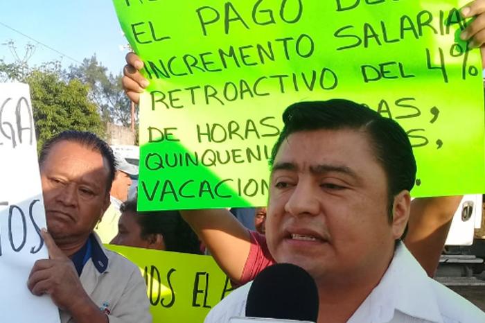Sindicalizados municipales de Coatzacoalcos en paro por violación al contrato