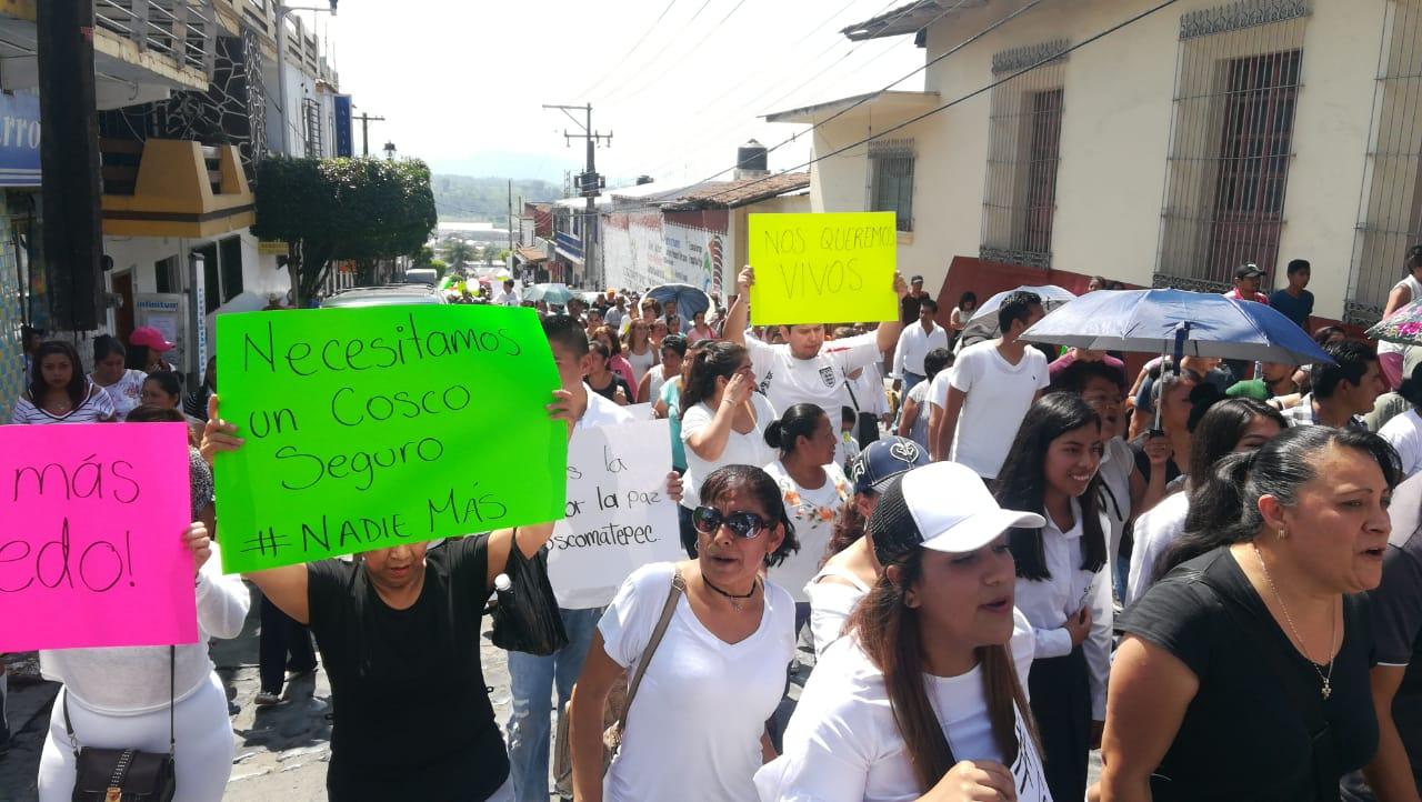 Por feminicidio,piden intervención militar en Coscomatepec