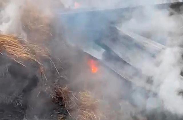 Cohete causa incendio en rancho del exdirector del IVD