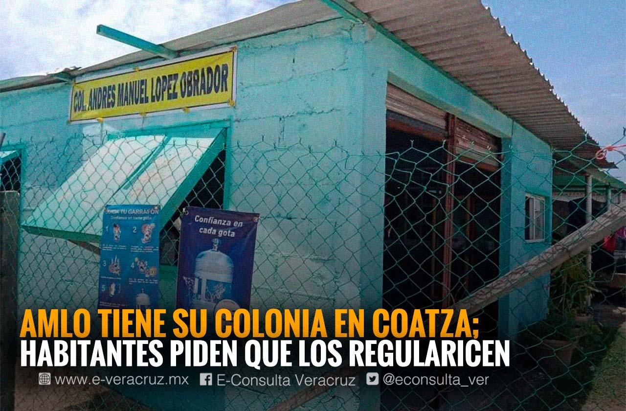 No invadimos: vecino de colonia AMLO, asentamiento irregular en Coatza