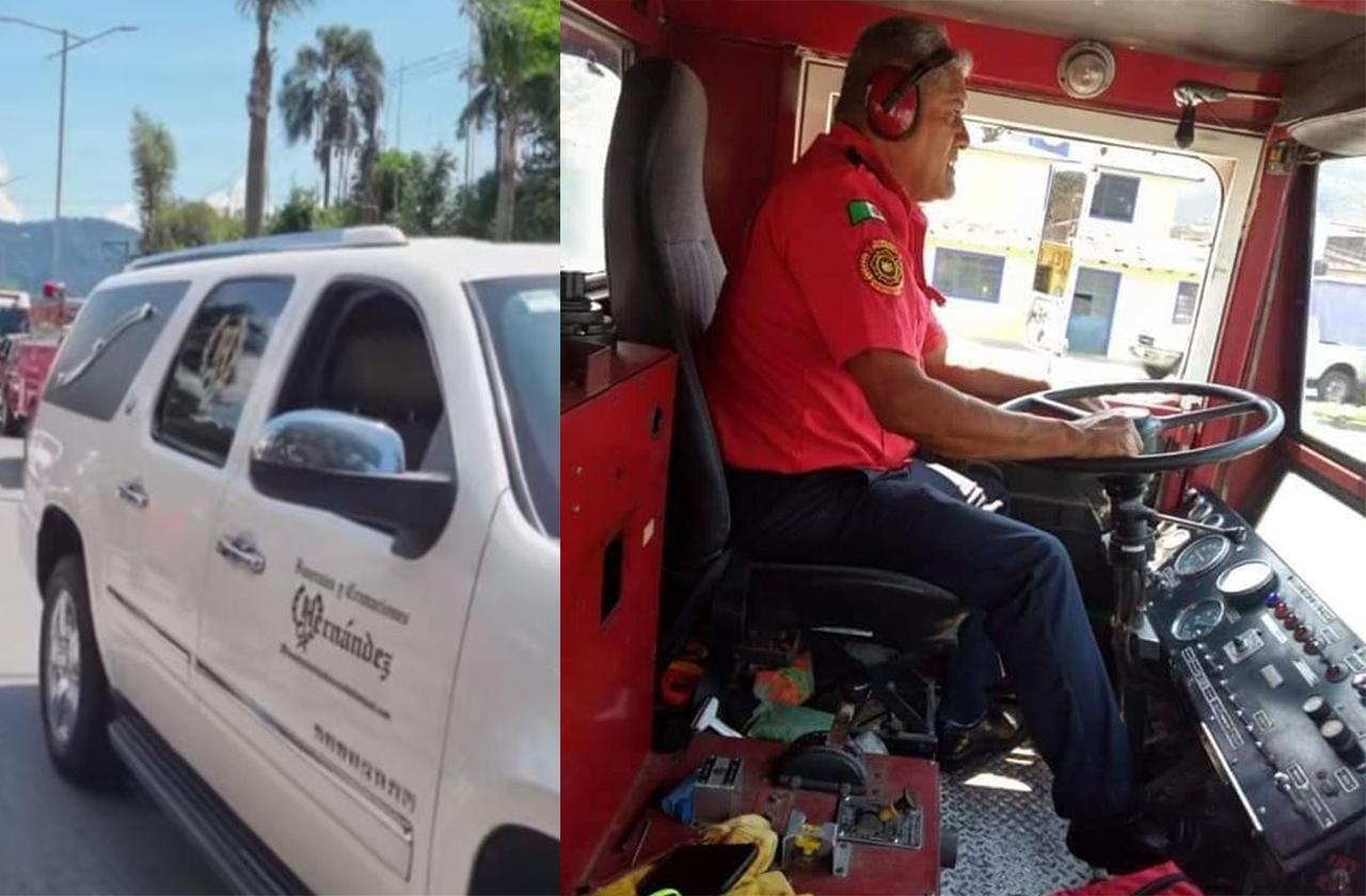 Muere comandante de Bomberos por covid, lo despiden en Ciudad Mendoza