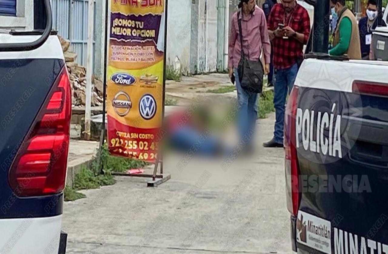 Comando armado asesina a hombre en Minatitlán