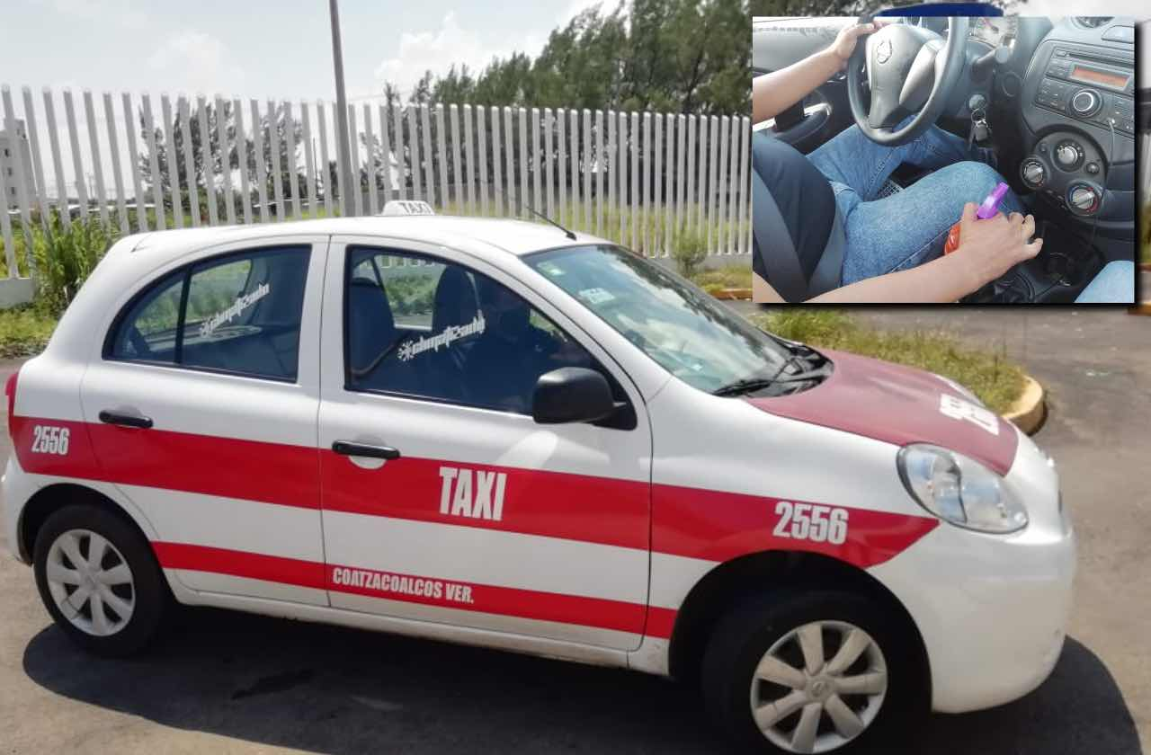 Con estas medidas, taxista de Coatza evita contagios de covid