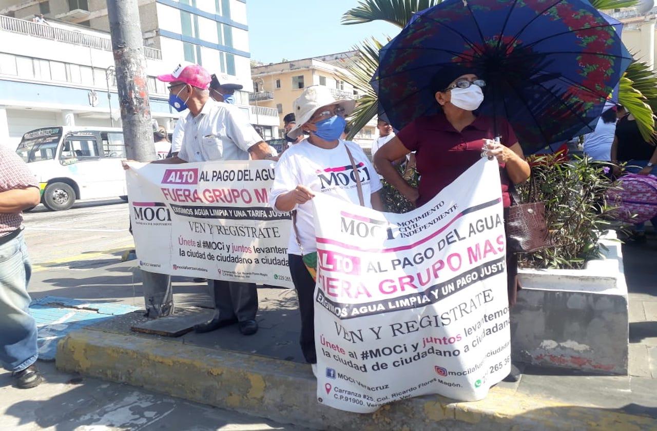 Con marcha, MOCI protesta contra abusos de Grupo MAS