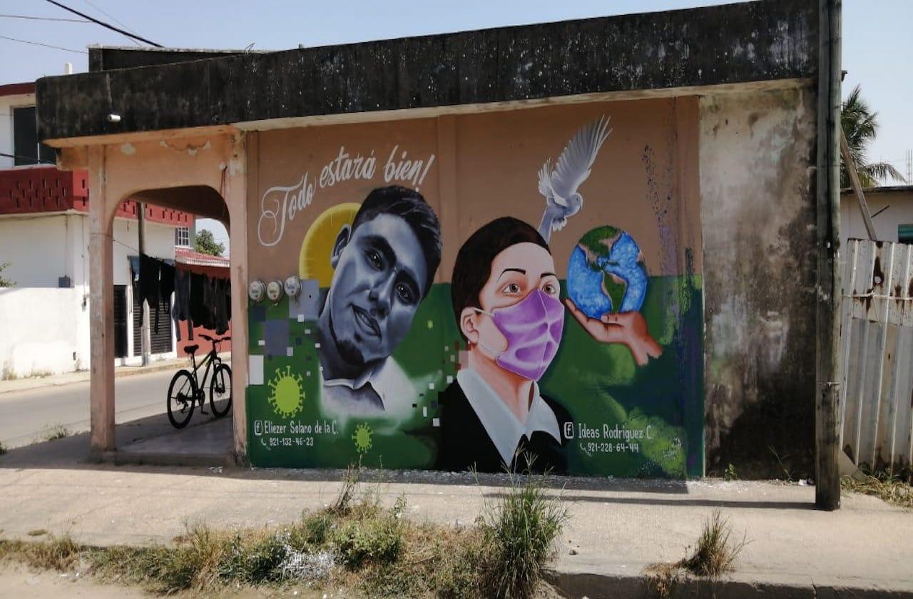 Con mural, honran a personal de Salud fallecido por covid