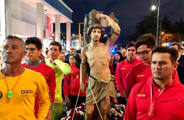 Con procesión a San Sebastián, rezarán por fin de pandemia en Veracruz