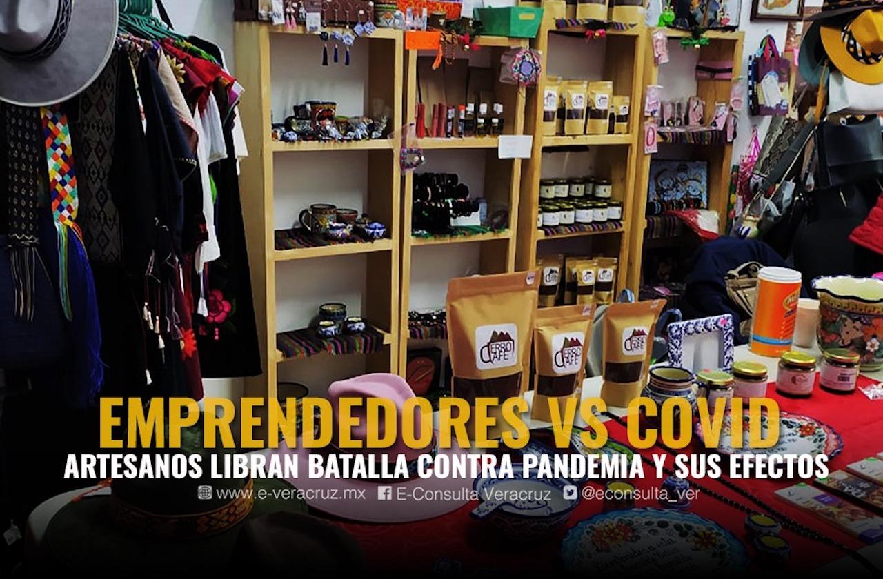 Con trueques, artesanos de Xalapa obtienen víveres en pandemia