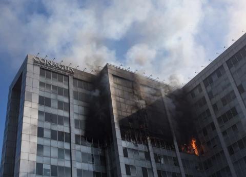 Incendio en Conagua causa sospecha