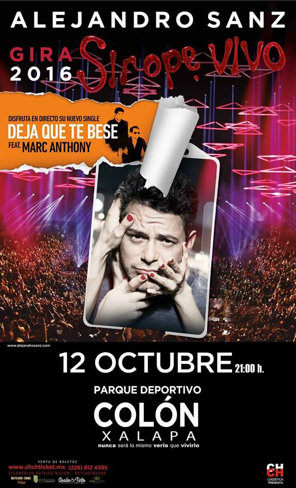 Cancelan concierto de Alejandro Sanz en Xalapa