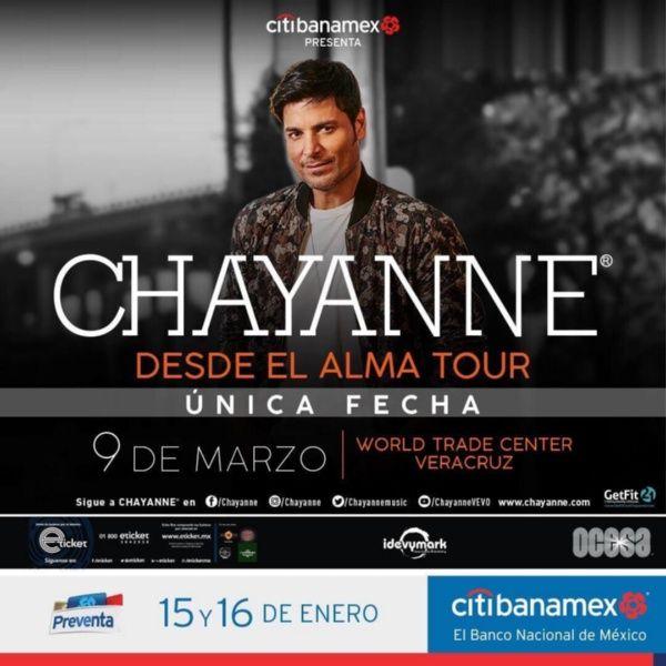 En marzo Chayanne regresa a Veracruz
