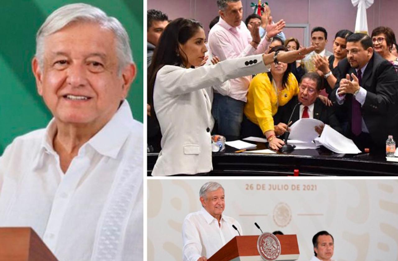 Congreso de Veracruz recibe reconocimiento de AMLO por remoción de Fiscal