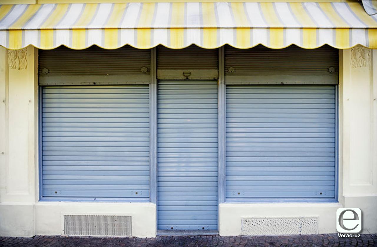 Bajan la cortina 70% de los negocios en el Puerto