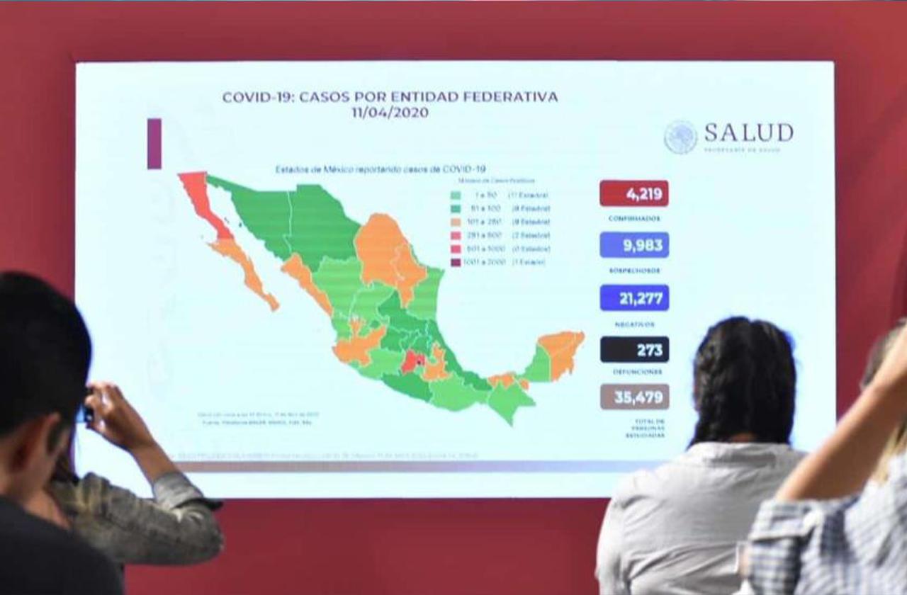 Suman 40 nuevos fallecimientos por covid-19; ya son 273 en México