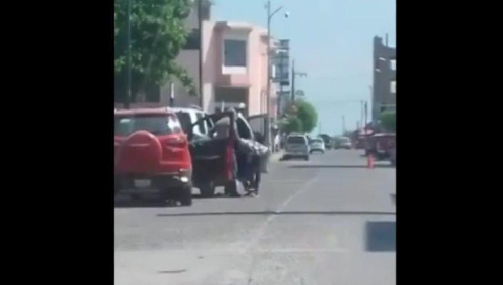 Video | Intento de secuestro a mujer en Pánuco
