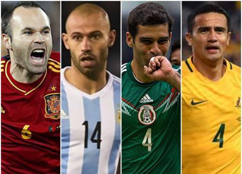 Cuatro grandes que se despiden en el Mundial de Rusia 2018