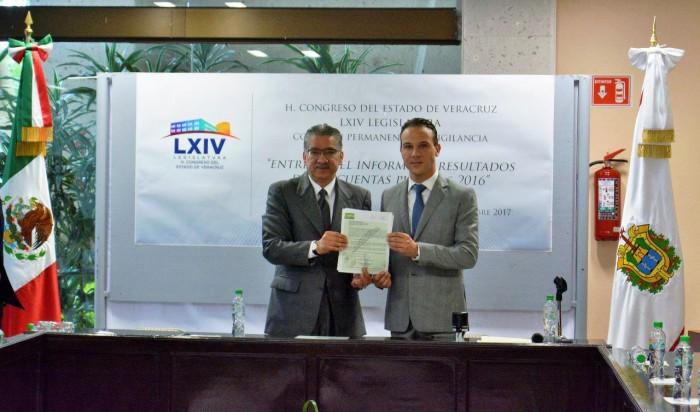 Recibe LXIV Legislatura el Informe de Resultados de la Cuenta Pública 2016